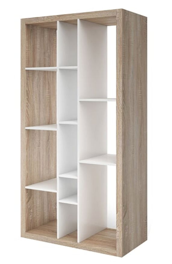 Tall And Wide Bookcases ~ Oak effect bookcase ruby tall wide open back room